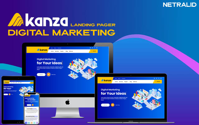 Akanza Clone Landing Page Responsive Blogger Template