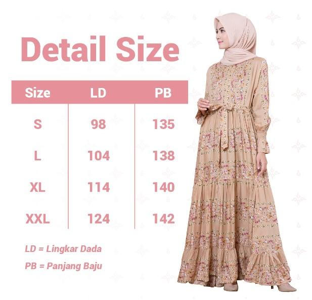 Detail Size Pack Fashion Muslimah Baneska