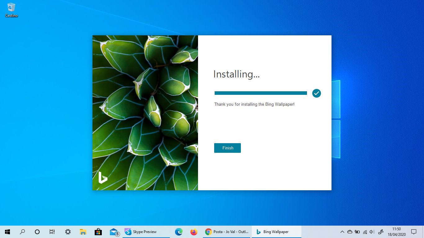 Come impostare in automatico il desktop di Windows 10 con l'immagine quotidiana di Bing