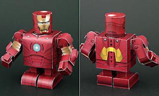Iron man hecho con cartón