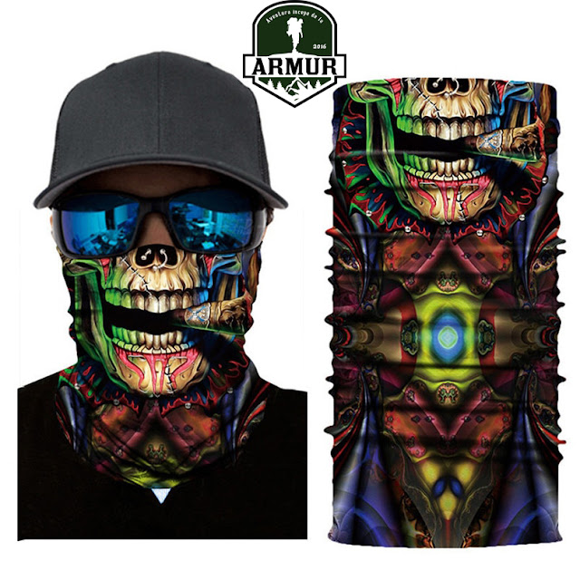 Bandana multifunctionala skull cap de mort rock