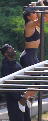 1 - Kim Kardashian undergoes grueling workout with personal trainer in LA Stadium to tone her body