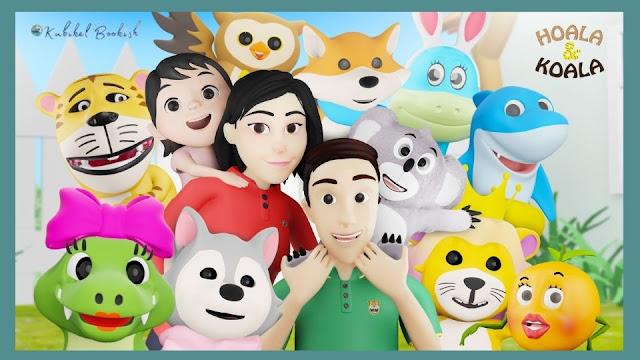 Karakter tokoh di video animasi Hoala & Koala