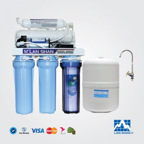 FIVE STAGE LANSHAN RO WATER PURIFIER MODEL LSRO 101 A .Lan Shan a professional manufacturer of reverse osmosis systems in Taiwan.