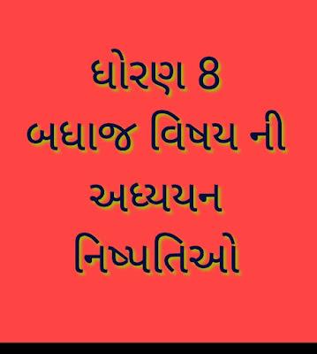 Std 8 Adhyayan Nispati  All Subjects PDF