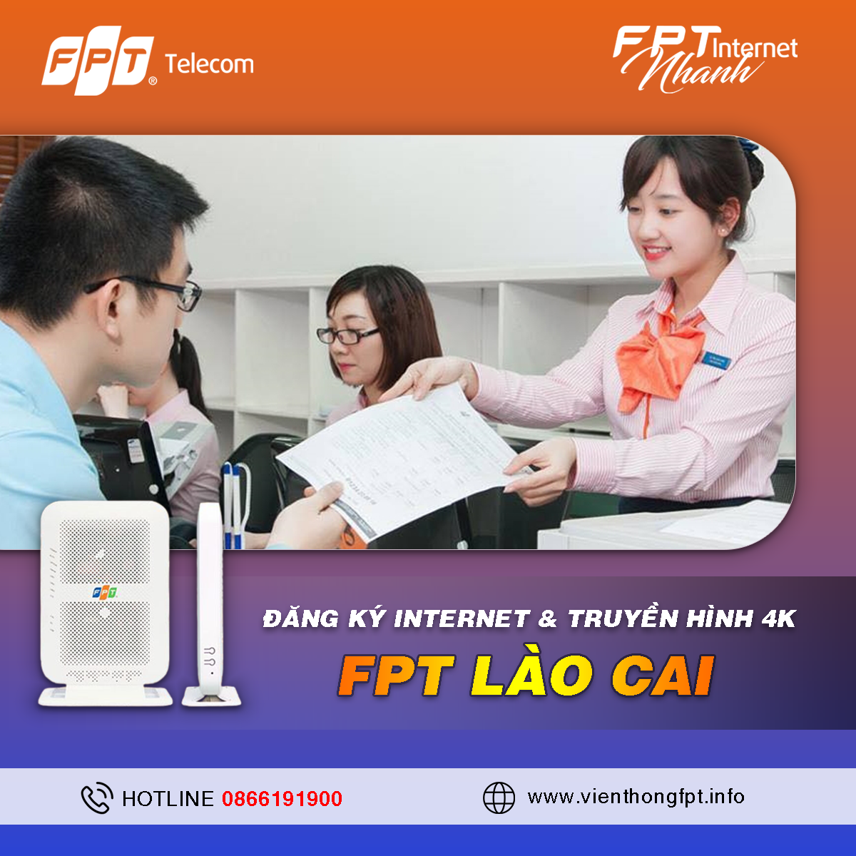 Đơn vị Đăng ký Internet FPT tại Lào Cai