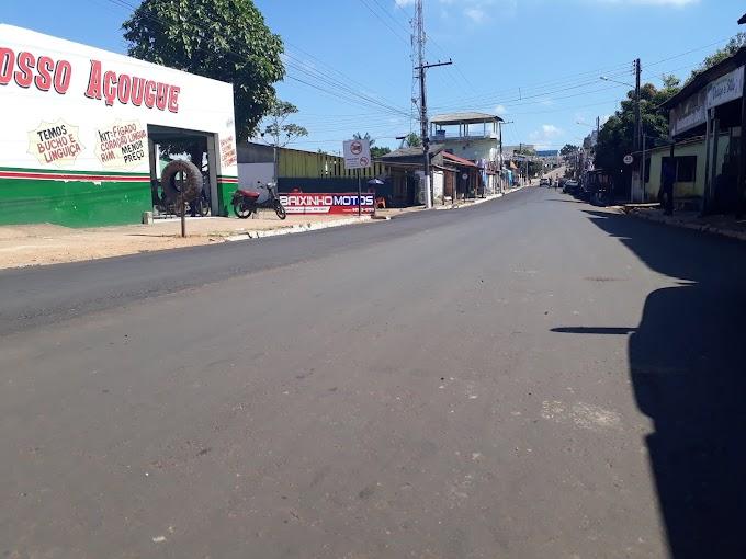 A SEMINFRA já concluiu a pavimentação de um dos pontos críticos da travessa João pessoa em Itaituba.
