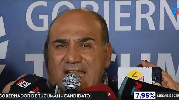 Elecciones Tucuman: Manzur fue reelecto y expresó su rotundo apoyo a la fórmula Alberto