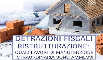 detrazione ristrutturazione edilizia