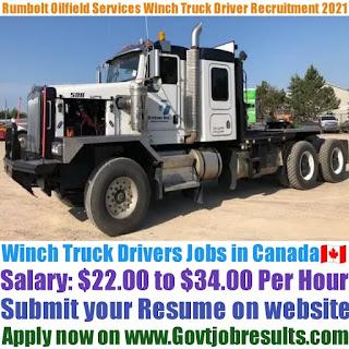 Rumbolt Oilfield Services Winch Truck Driver Recruitment 2021-22