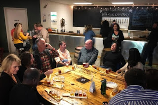 Hellbender Brewing Company communal table