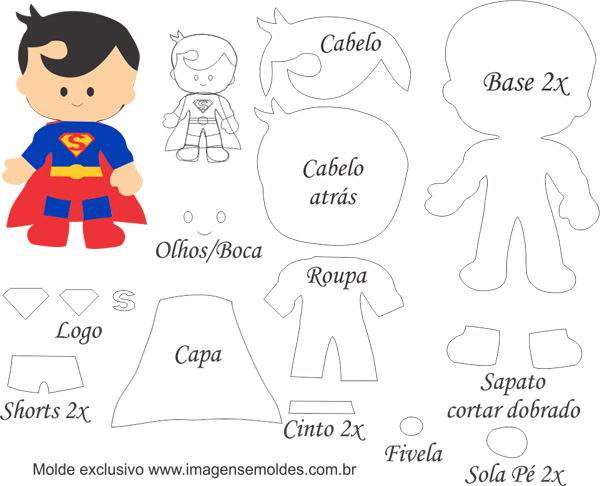 Superman Baby Free Printable Template
