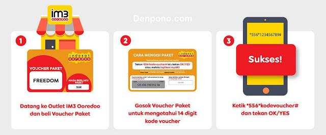 Cara Mengisi dan Memasukkan Kode Voucher Indosat