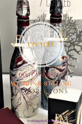 Awesome DIY Trend-upcycling-wedding ideas-upcycled bottles-KMich Weddings-Philly PA