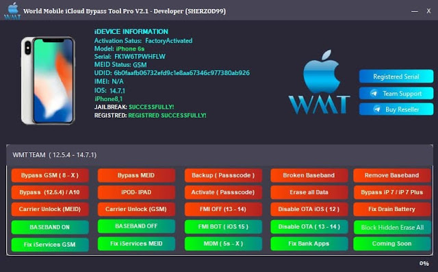 World Mobile iCloud Bypass Tool Pro V2.1