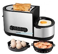 Logo Aicok Tostapane 5 in 1 con Fornello per uova da € 46,99 a soli € 29,99 sconto 36%! Affrettati