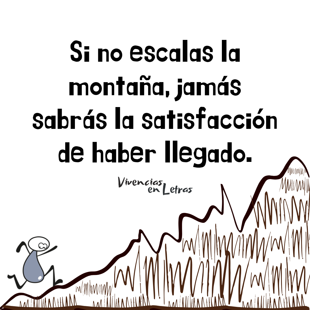 la vida es como una montaña
