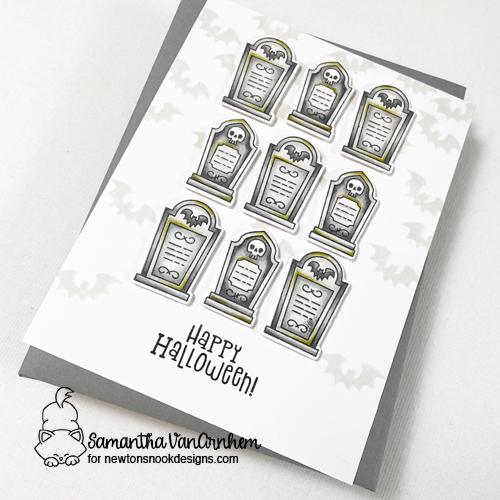 Halloween Card by Samantha VanArnhem | Count Newton Stamp Set by Newton's Nook Designs #newtonsnook #handmade