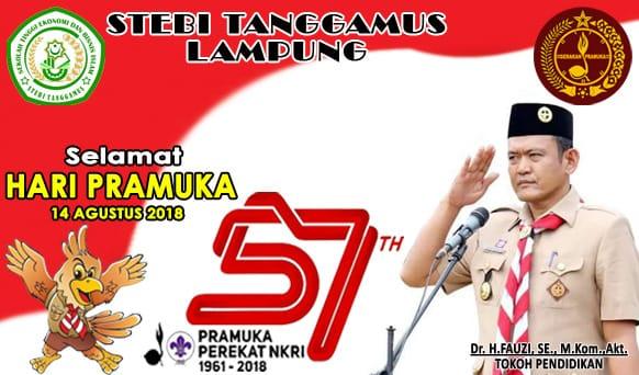Design Banner Selamat Hari Pramuka STEBI Tanggamus