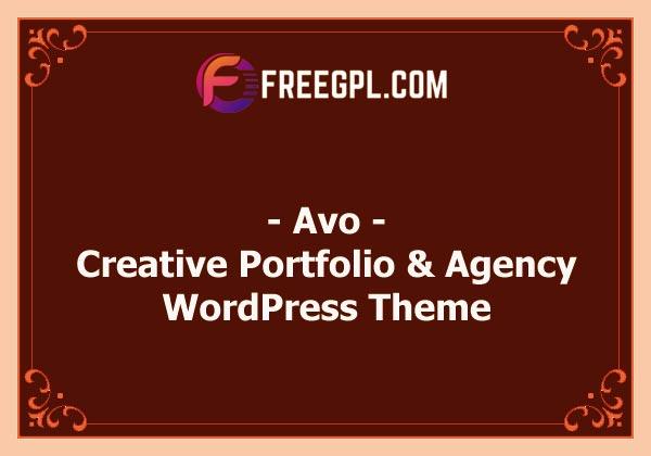 Avo - Creative Portfolio & Agency WordPress Theme Nulled Download Free