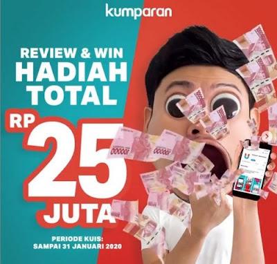 Review Aplikasi Kumparan Berhadiah Total 25 Juta Rupiah