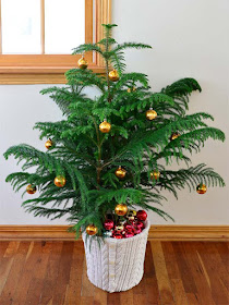 Repurposed Sweater for Christmas Tree
