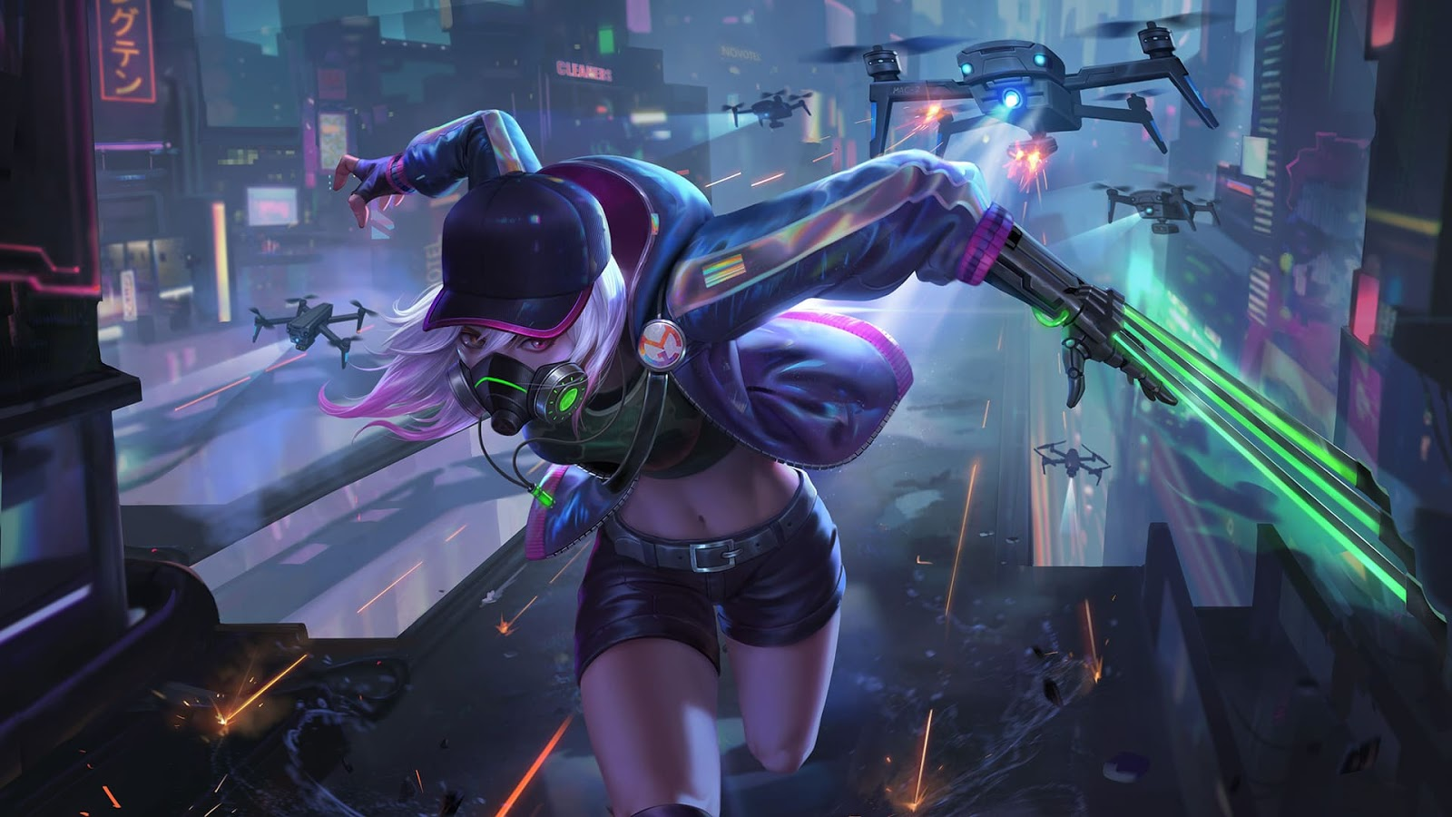 Wallpaper Natalia Cyber Spectre Skin Mobile Legends HD for PC