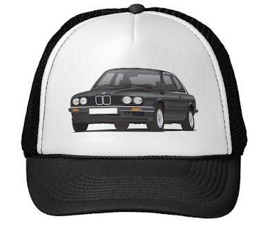 BMW E30 (3 Series) illustration cap @Zazzle Store