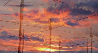 imagen ilustrativa de antenas de radio frecuencia