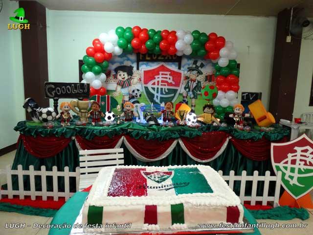 Tema do Fluminense para decoração de festa de aniversário infantil