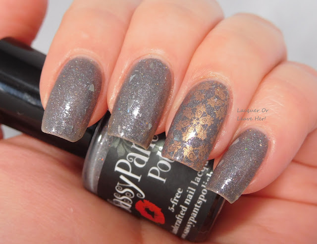 Lina Nail Art Supplies 4 Seasons - Winter 01 over Sassy Pants Polish Not Even A Mouse