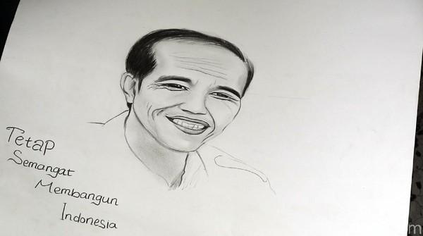 Ucapan Terima Kasih Febby Lewat Sketsa Wajah untuk Jokowi