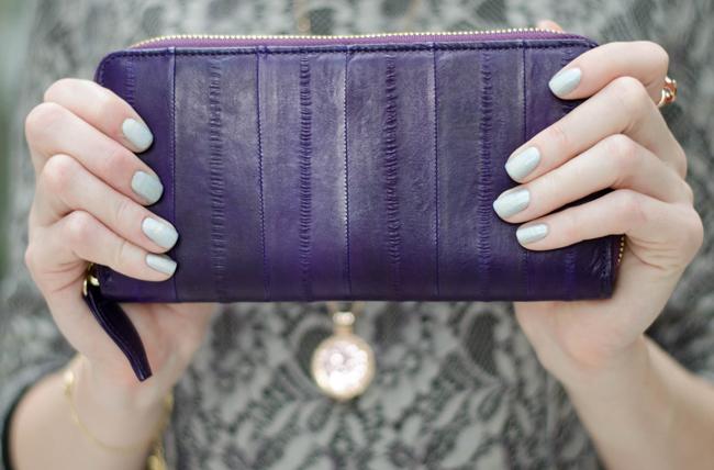 Makki Aubergine Large Zip Wallet