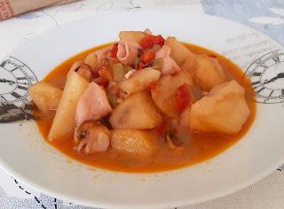 Chipirones con patatas