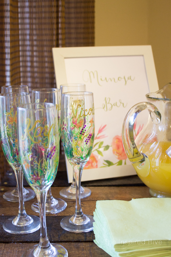 Floral garden themed bridal shower