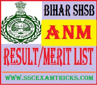 Bihar SHSB ANM Result