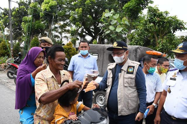 Pjs. Bupati Sergai Pantau dan Sosialisasi Protokol Kesehatan di Objek Wisata