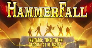 Concierto de HAMMERFALL en Colombia, Bogotá 2019