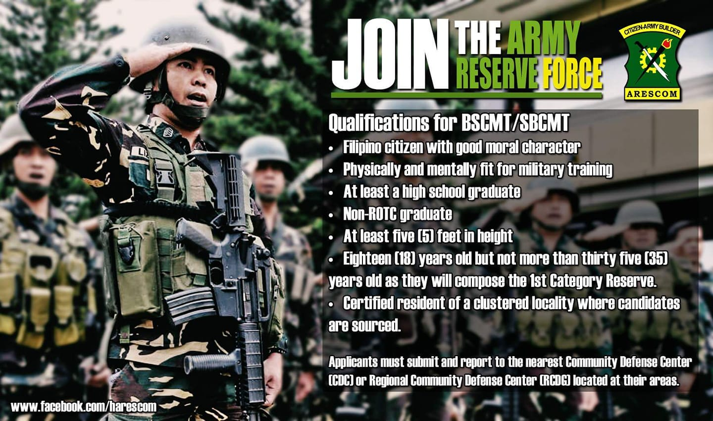 Join the AFP  Reservist (AFPRESCOM now!