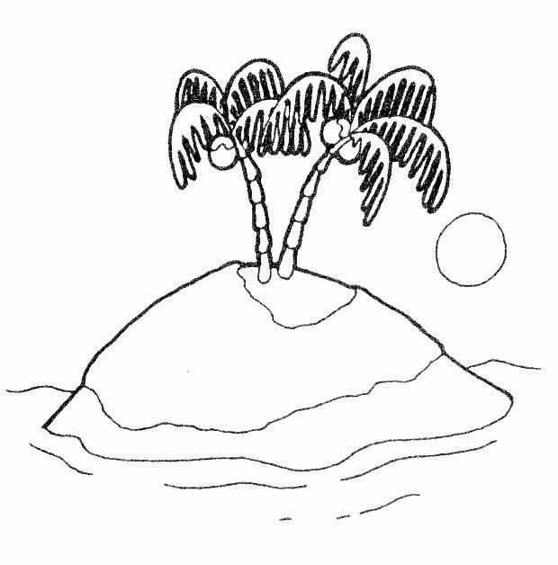 Desenhos Para Colorir De Ilha Formando Alunos