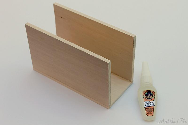 Monthly Diy Challenge Balsa Wood Napkin Holder The