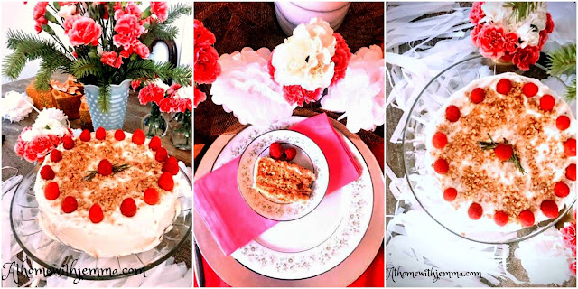 sponge, cake, homemade, homemaking, dessert, recipe, Valentine, party, birthdays, showers, athomewithjemma