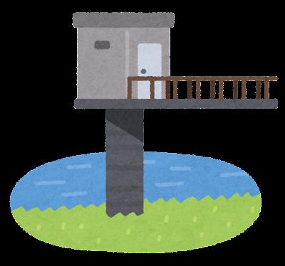 水位観測所のイラスト