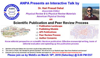 ANPA Monthly Talk Series- March 2019