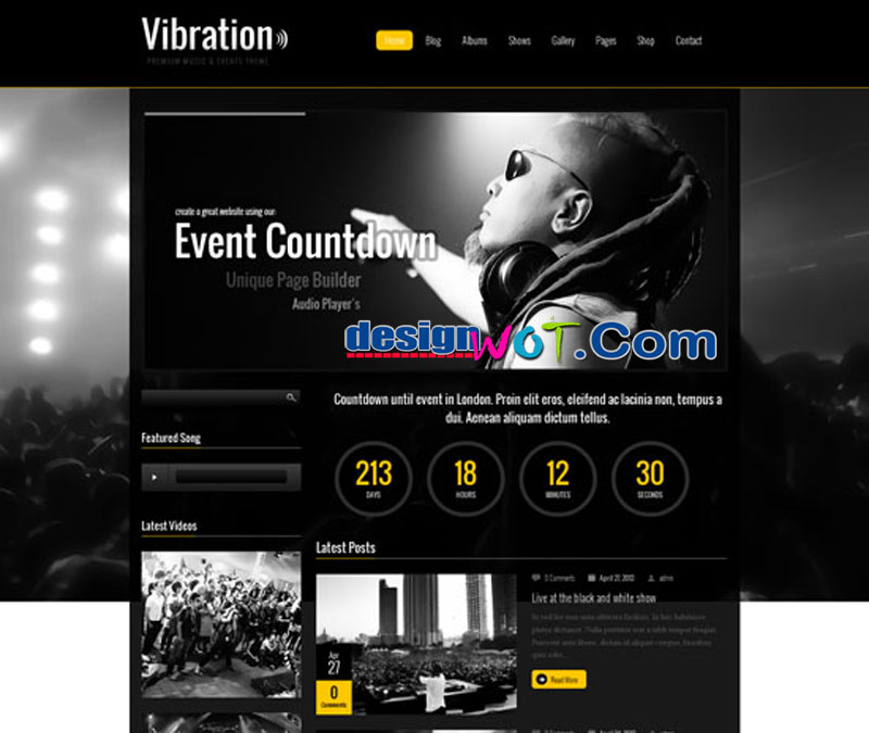 Vibration - Responsive Music and Events Theme