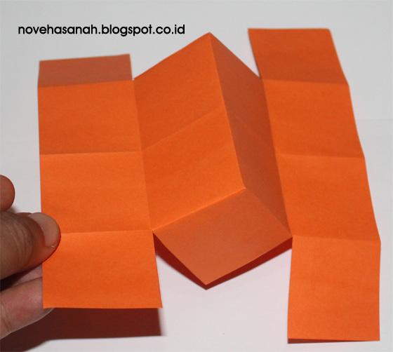 cara pembuatan rumah-rumahan untuk anak dari kertas origami yang sangat gampang