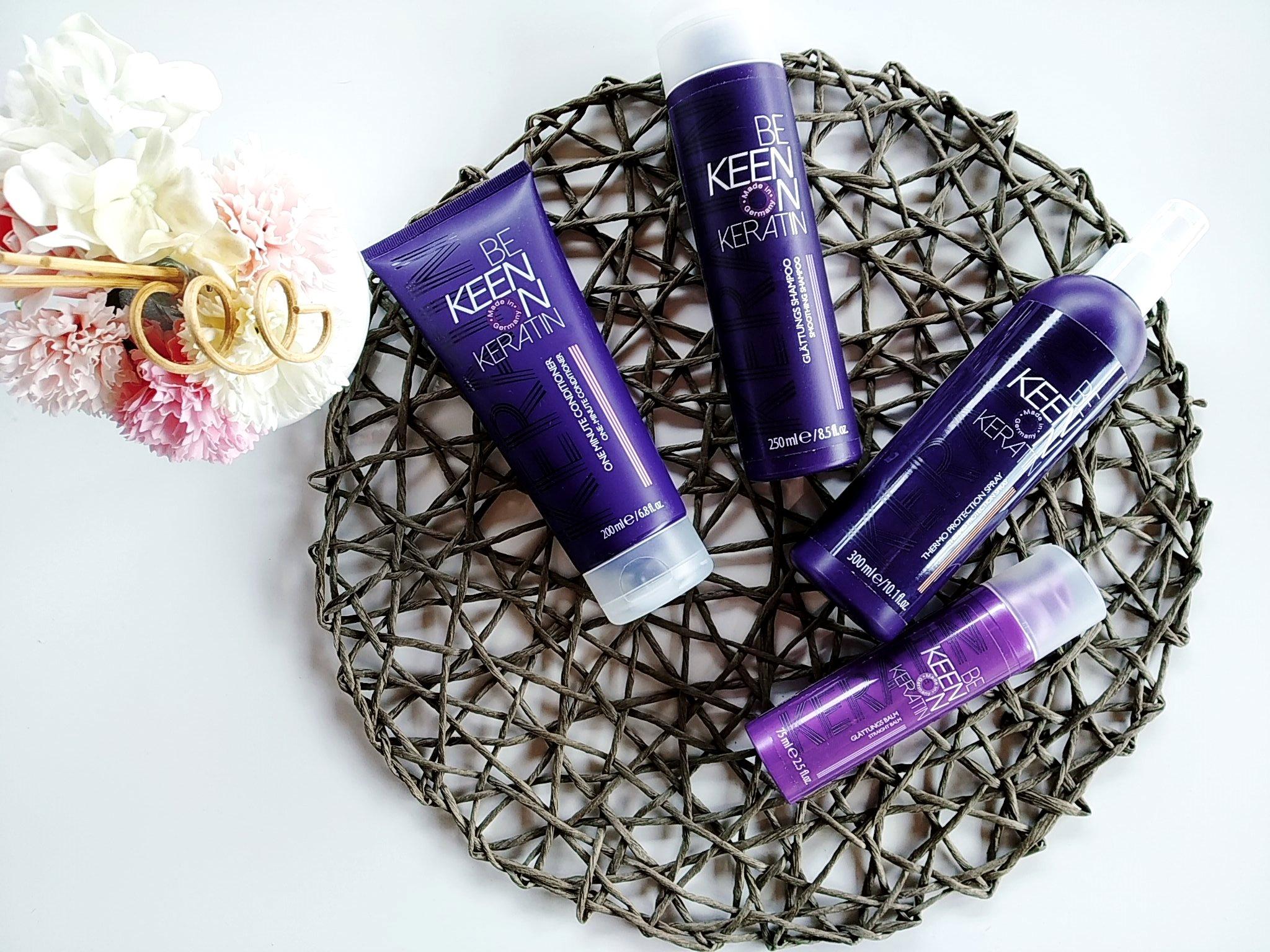 Pięlęgnacja włosów z serią kosmetyków BE KEEN ON KERATIN