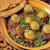 طاجين باللحم والجلبانة والقوق لذيذ من المطبخ المغربي