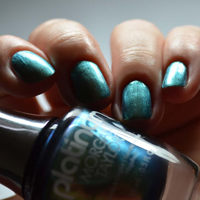 green duo chrome nail polish