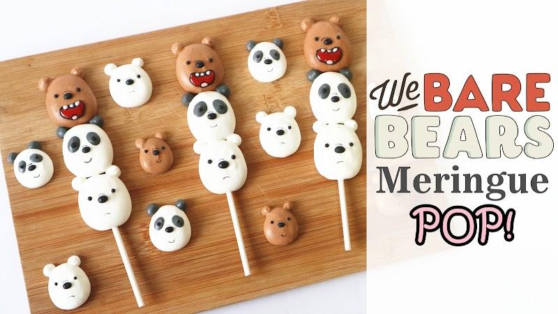 We Bare Bears Merinuge Pop 熊熊三兄弟棒棒蛋白餅